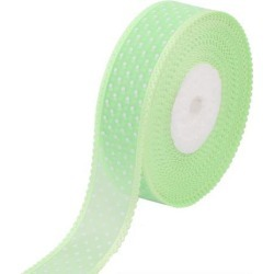 Wedding Gift Decor Polyester Dot Pattern Satin Ribbon Roll Green 20 Yards...