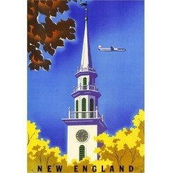 New England Massachusetts United States Vintage Travel Advertisement Art Poster found on Bargain Bro India from Newegg Business for $16.74