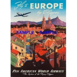 Pan American Air Lines 8.5' X 11' Travel Poster - [ EUROPE ] - found on Bargain Bro India from Newegg Business for $17.35