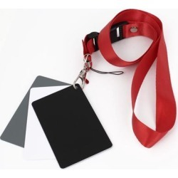 Unique Bargains 3 in1 Digital Gray/White/Black Card Set Photography Exposure Balance Strap