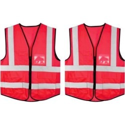 Reflective Mesh Design Security Vest for Jogging Traffic Safety Red 2pcs found on Bargain Bro India from Newegg Canada for $23.95
