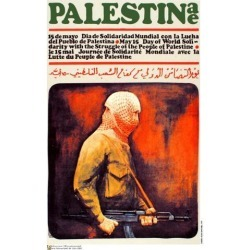 Political OSPAAAL poster. Palestinian Guard. Muslim. arab. Middle East History. me18 found on Bargain Bro India from Newegg Business for $18.67