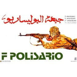 Political OSPAAAL poster. POLISARIO Fighter. Muslim. Arab. Middle East History. me26 found on Bargain Bro India from Newegg Business for $18.70