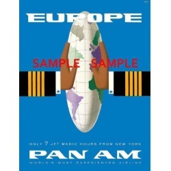 Pan American Air Lines 8.5' X 11' Travel Poster - [ EUROPE ] - found on Bargain Bro India from Newegg Business for $17.31