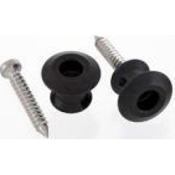 AllParts Buttons Only for Dunlop Straplocks, Black, 2 Pack