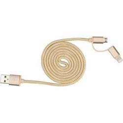2 In 1 Super Long Micro USB Cable Mobile Phone Charging Cable Cord For Iphone found on Bargain Bro India from Newegg Business for $4.99