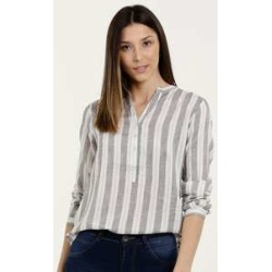 Camisa Feminina Listrada Manga Longa Marisa found on Bargain Bro from marisa.com.br for USD $29.78