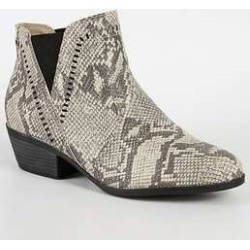 Bota Feminina Cano Curto Textura Cobra Moleca found on Bargain Bro India from marisa.com.br for $39.20