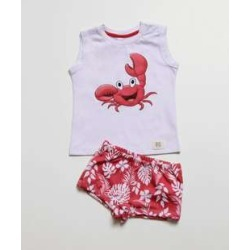 Conjunto Infantil Estampa Caranguejo Sem Manga found on Bargain Bro India from marisa.com.br for $24.50