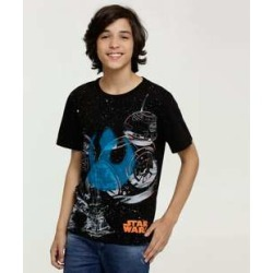 Camiseta Juvenil Estampa Star Wars Manga Curta Disney found on Bargain Bro India from marisa.com.br for $9.80