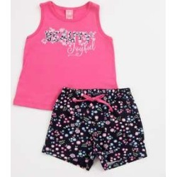 Conjunto Infantil Estampa Floral Sem Manga found on Bargain Bro India from marisa.com.br for $17.64