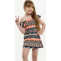 Vestido Infantil Open Shoulder Estampa Geométrica found on Bargain Bro Philippines from marisa.com.br for $17.64