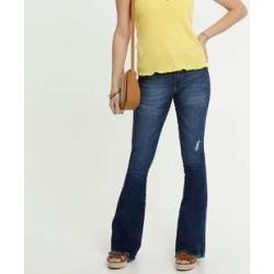 Calça Jeans Flare Feminina Puídos Biotipo found on Bargain Bro India from marisa.com.br for $34.30