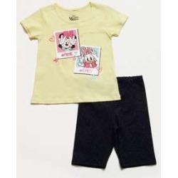 Conjunto Infantil Minnie Glitter Manga Curta Disney found on Bargain Bro India from marisa.com.br for $24.50