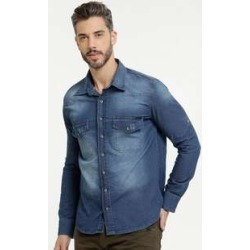Camisa Masculina Puídos Manga Longa Zune Jeans found on Bargain Bro India from marisa.com.br for $44.10