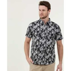Camisa Masculina Estampa Folhas Manga Curta MR found on Bargain Bro India from marisa.com.br for $34.30