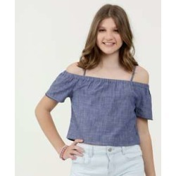 Blusa Juvenil Open Shoulder Manga Curta Marisa found on Bargain Bro Philippines from marisa.com.br for $24.50