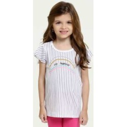 Blusa Infantil Canelada Listrada Manga Curta Marisa found on Bargain Bro Philippines from marisa.com.br for $19.60