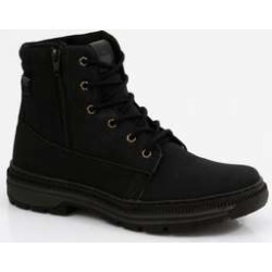 Bota Masculina Coturno Cano Curto Zíper Tratorada found on Bargain Bro India from marisa.com.br for $39.20