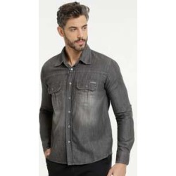 Camisa Masculina Bolsos Manga Longa Zune Jeans found on Bargain Bro India from marisa.com.br for $48.98