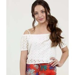 Blusa Juvenil Cropped Laise Manga Curta Marisa found on Bargain Bro from marisa.com.br for USD $14.90