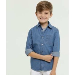 Camisa Infantil Jeans Manga Longa MR found on Bargain Bro from marisa.com.br for USD $26.05