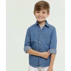Camisa Infantil Jeans Manga Longa MR found on Bargain Bro India from marisa.com.br for $34.28