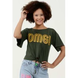 Blusa Juvenil Cropped Estampa Frontal Manga Curta found on Bargain Bro Philippines from marisa.com.br for $14.70
