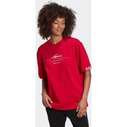 adidas R.Y.V. OVERSIZE TEE WOMEN SCARLE size 34 found on Bargain Bro from Adidas HK for USD $19.66
