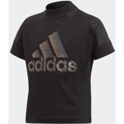 adidas ID GLAM TEE GIRLS BLACK size A128 found on Bargain Bro India from Adidas HK for $13.00