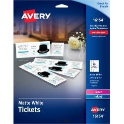 Avery� Tickets with Tear-Away Stubs