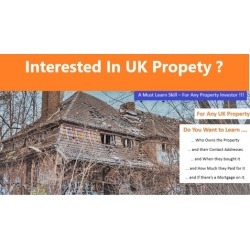 Learn how to find Property Owners in the UK found on Bargain Bro UK from Udemy