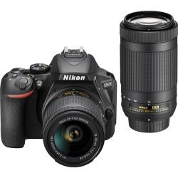 Nikon - D5600 DSLR Camera with 18-55mm and 70-300mm Lenses - Black