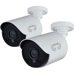 Night Owl - Indoor/Outdoor 1080p Wired Camera (2 -Pack) - White found on Bargain Bro India from Best Buy for $102.99