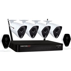 Night Owl - 6-Channel, 6-Camera Indoor/Outdoor Wireless/Wired 1TB DVR Surveillance System - Black/White found on Bargain Bro India from Best Buy for $579.99