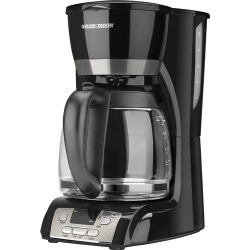 Black & Decker - 12-Cup Programmable Coffee Maker - Black