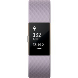 Fitbit - Charge 2 Activity Tracker + Heart Rate (Small) - Lavender Rose Gold