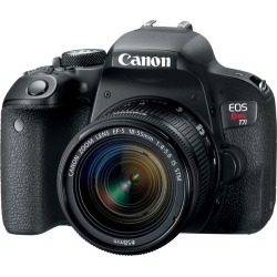 Canon - EOS Rebel T7i DSLR Camera with EF-S 18-55mm IS STM Lens - Black