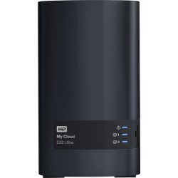 WD - My Cloud EX2 Ultra 8TB 2-Bay External Network Storage (NAS) - Charcoal