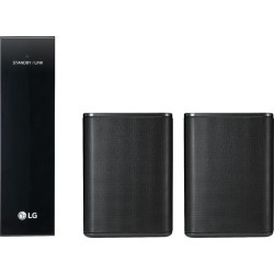 LG - Powered Wireless Rear Channel Speakers (Pair) - works with select LG soundbars - Black