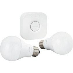 Philips - Hue A19 60W Equivalent Wireless Starter Kit - White found on Bargain Bro India from Best Buy for $69.99