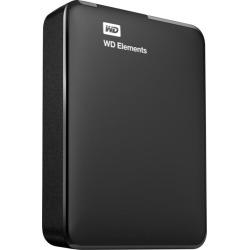 WD - Elements Portable 3TB External USB 3.0 Portable Hard Drive - black