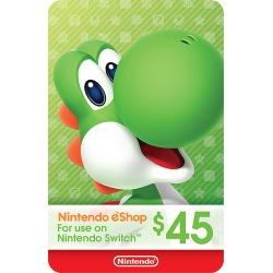 Nintendo - Nintendo eShop $45 Gift Card [Digital]