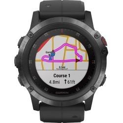 Garmin - Fenix 5X Plus Sapphire Smart Watch - Fiber-Reinforced Polymer - Black