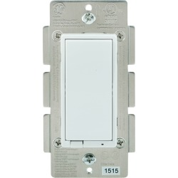 GE - Bluetooth In-Wall Smart Dimmer - White