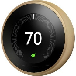 Nest - Learning Wi-Fi Thermostat - Brass