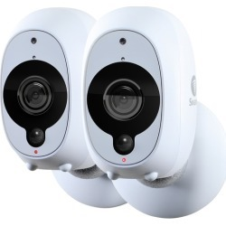 Swann - Smart Indoor/Outdoor 1080p Full HD Wi-Fi Wire-Free Security Camera (2-Pack) - White found on Bargain Bro India from Best Buy for $202.99
