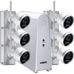 Lorex - 6-Channel, 6-Camera Indoor/Outdoor Wire Free 1080p 1TB DVR Surveillance System - White found on Bargain Bro India from Best Buy for $749.99
