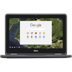 "Dell - 2-in-1 11.6"" Touch-Screen Chromebook - Intel Celeron - 4GB Memory - 32GB eMMC Flash Memory - Black"
