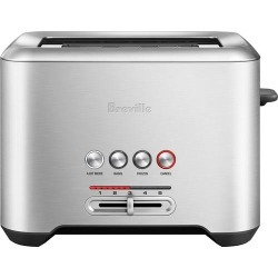Breville - 2-Slice Extra-Long-Slot Toaster - Brushed stainless steel